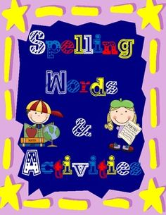 This fantastic download includes 41 weeks worth of spelling words/homework for your Kindergarten class.