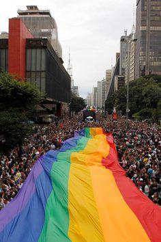 Go big at Gay Pride Parade - São Paulo, Brazil.
