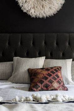 Dot Embroidered Silk Pillows from west elm