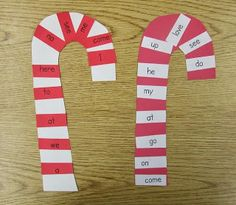 classroom idea, sweet holiday, candi cane, holiday sight, candy canes, decemb, christma, sight word, holding hands