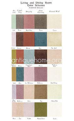 1920s paint palette for living and dining room walls