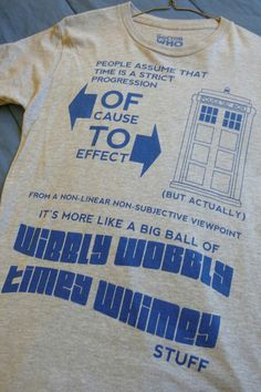 Dr Who shirt. I need this now.