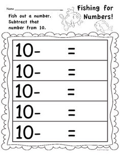 Fishing for Numbers - Addition and Subtraction Math Center  This is a super FUN activity and my kids ask for it! $