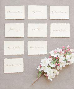 Elegant Italian wedding inspiration - Seating cards http://weddingsparrow.co.uk/2014/07/24/elegant-italian-wedding-inspiration-part-two/