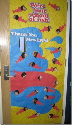 We're Your School of Fish Door Idea (Teacher Appreciation Week)