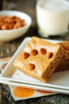 Browned butter and butterscotch blondies