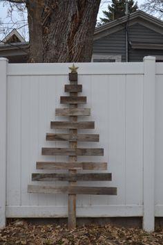 Barn wood Christmas tree