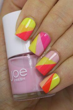 Joe Fresh Nail Art - grape fizz nails