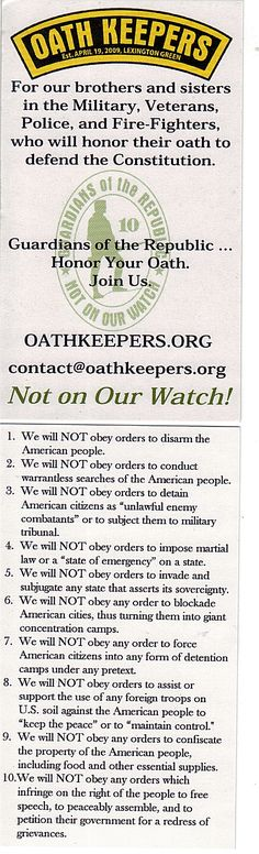 join Oath Keepers: