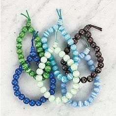 Those marble bead bracelets!!  These were so popular...you could get them anywhere #90s