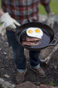 Breakfast perfected.  #camping #breakfast #plaid #eggs