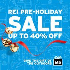 REI Pre-Holiday sale Nov. 15-24. Check REI.com for all the details. #REIGifts