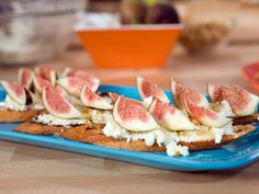 Crostini with Sweet Ricotta, Honey and Toasted Hazelnuts Recipe : Bobby Flay : Food Network - FoodNetwork.com