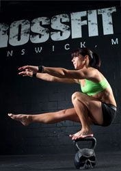 "One-leg squat (""pistol"") while balanced on a kettlebell -impressive..."