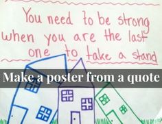 Make a poster / Draw a picture of a quote from General Conference
