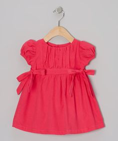 This Hot Pink Bow Dress - Infant by Alouette is perfect! #zulilyfinds