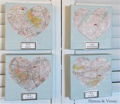 Mod podge diy Love Map art work - Debbiedoo's