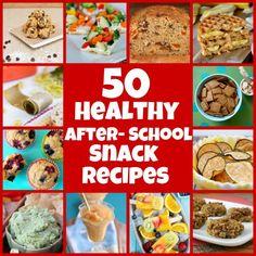 50 Healthy After- School Snack Recipes - RecipeGirl.com