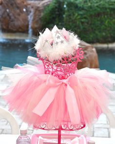 Centerpiece for a princess party would be cute as gift table centerpiece