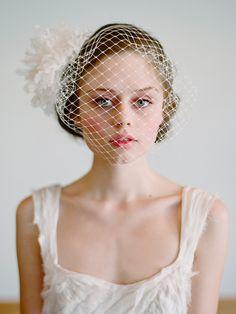 twigs & honey sweet birdcage veil...xoxo http://www.kissthegroom.com