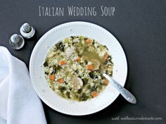 Homemade Italian wedding soup recipe - Debbiedoo's