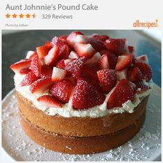 """Aunt Johnnie's Pound Cake   """"This is the best cake recipe on this site. I will use this recipe from now on as my signature cake. My husband refuses to eat store-bought pound cake ever again."""""""