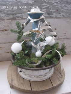 """Chipping with Charm: Vintage Sprinkler """"Tree""""..."""