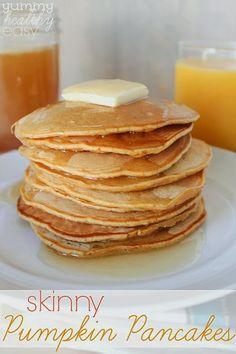 Skinny Pumpkin Pancakes - thanksgiving morning breakfast!