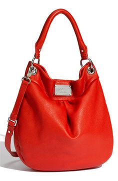 marc jacobs red hillier hobo