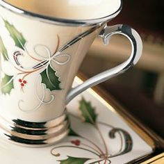 lenox christma, christma dish, christma china