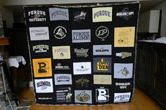 What a neat idea, stock up on #Purdue t's from #Goodwill and you can make your own Boilermaker quilt!