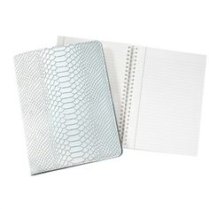 For satisfying my inner-luddite: Graphic Image Embossed Python Leather Notebook