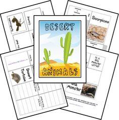 Free Desert Animals Unit Study & Lapbook from freehomeschooldeals.com