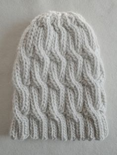 Chunky CableHat - The Purl Bee - Knitting Crochet Sewing Embroidery Crafts Patterns and Ideas!