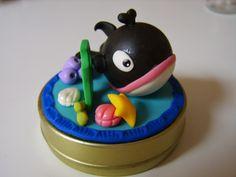 BISCUIT - CURSOS CARMOART (adultos e crianças): baleia na latinha em biscuit