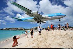 KLM - Royal Dutch Airlines - Boeing 747-406 - Philipsburg / St. Maarten - Princess Juliana (SXM / TNCM) - St. Maarten, March 2, 2012