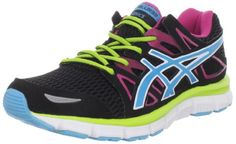 ASICS Women's GEL-Blur33 2.0 Running Shoe,Black/Electric Blue/Hot Pink,9.5 M US - Still don't know about the pink