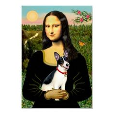Mona Lisa and Rat Terrier