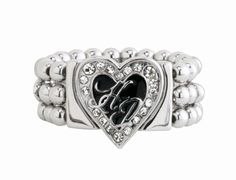 Harley-Davidson® Womens Heart Stretch Band Ring