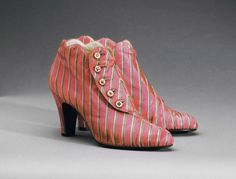 Woman's Boots  Made in Paris, France, Europe  Winter 1939-40
