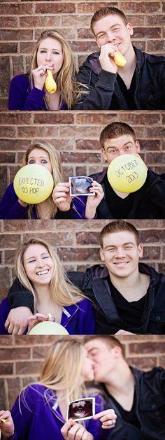 pregnancy announcements, idea, maternity photos, baby announcements, babi, balloon, pregnanc announc, photographi, kid
