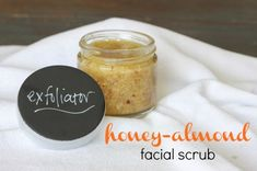 Absolutely loving this homemade Honey Almond Facial Scrub!  I want to go to the store to get the ingredients and make it TODAY!