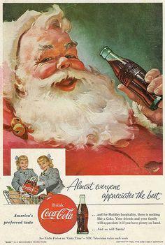 Coca-Cola 1955, The Coca Cola Santa is my favorite Santa of all friggin time!