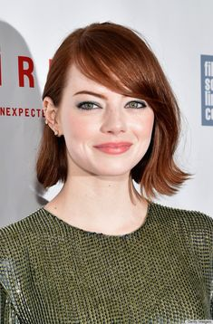 We can't get enough of the swoop in Emma Stone's bangs