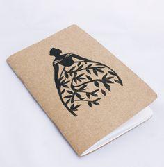 Valencia notebook and pin. $8.00, via Etsy.