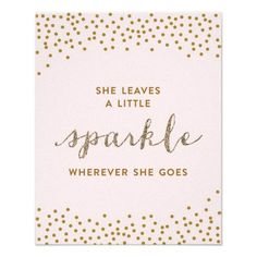 She Leaves a Little Sparkle - Premiumd Canvas Poster #Zazzle
