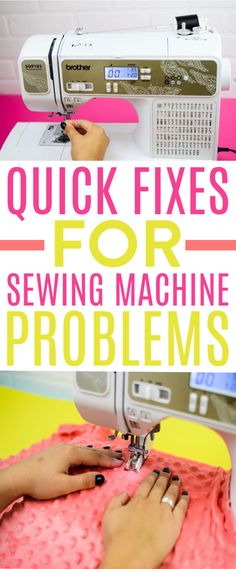 This guide to Quick Fixes for Sewing Machine Problems can help you  troubleshoot the issue and will give you some simple solutions. Often, what  seems like a huge problem turns out to be something one that is easily fixed  with a few basic steps you can complete right in your own home. #sewing #sewingideas #sewingprojects  #easysewingideas #sewingprojectsforbeginners #sewingforbeginners  #sewingprojectsforteens #easysewingideas #sewingtips