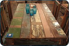 table from scrap wood, as is with no refinishing wood tabl, kitchen tables, random stuff