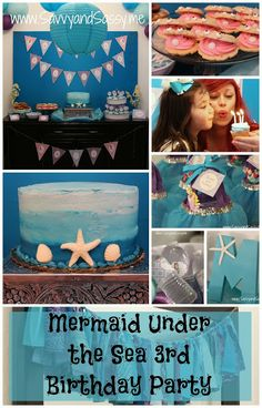 A Mermaid Under The Sea 3rd Birthday Party  - too cute!! birthday parties, parti idess, sofi birthday, sea 3rd, 3rd birthday
