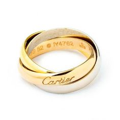 Gold and silver trinity ring, £775, by Cartier